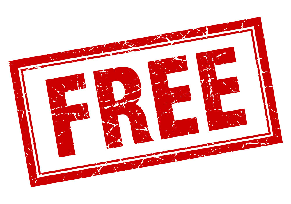 The word free in red with a rectangle around it