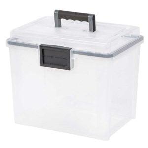 Weatherproof storage box on white background