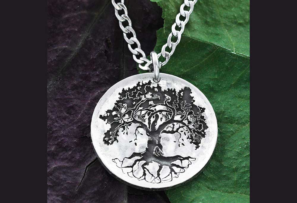 oak tree coin necklace