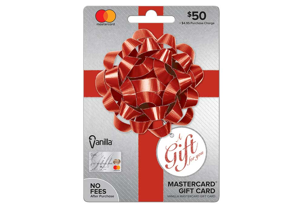 Christmas decorated master gift card